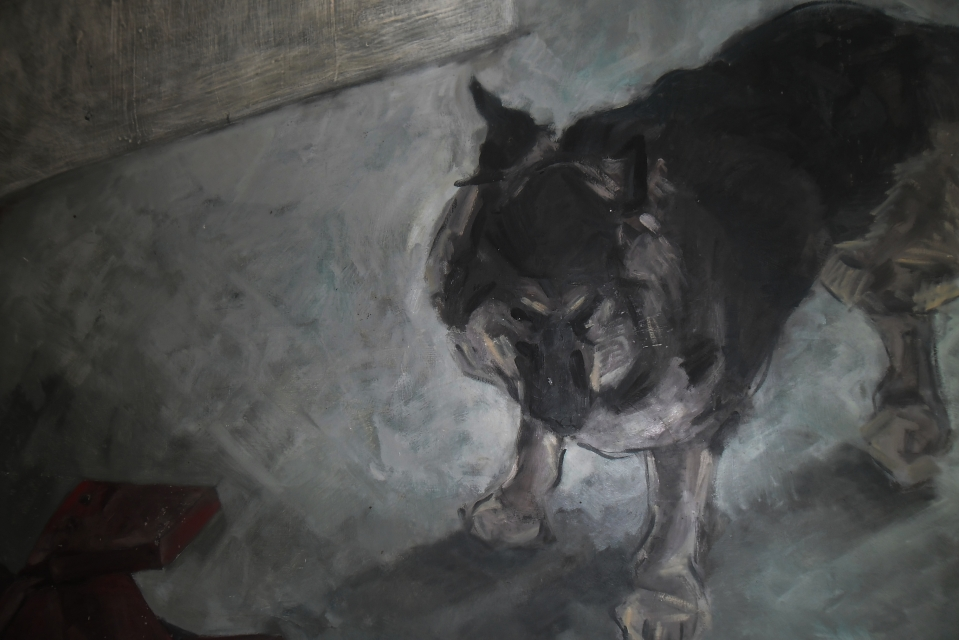 Home dog. (Detail.)